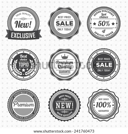 Vintage labels template set vector design stock vector 241760473 vintage labels template set vector design elements business signs logos identity friedricerecipe Image collections