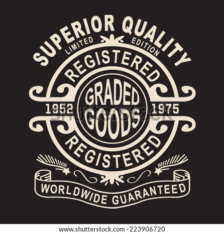 Vintage labels typography, t-shirt graphics, vectors - stock vector