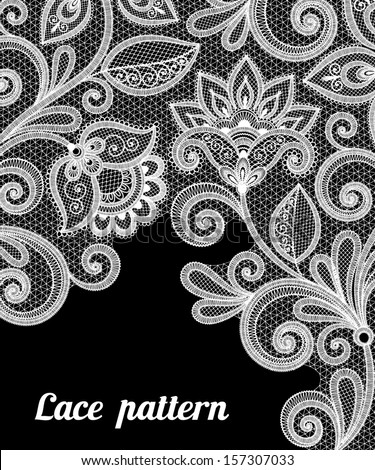 Vintage lace background for invitation or greeting card