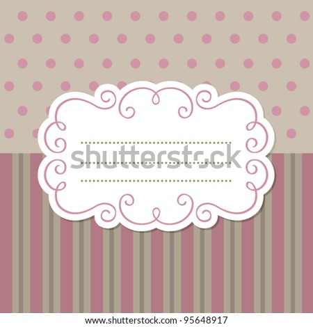 Vintage lace frame for invitation or greeting card - stock vector
