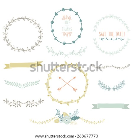 Vintage Laurels Collections - stock vector