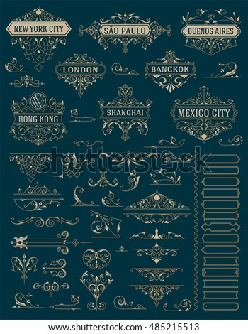 Vintage logos and kit elements. Vector