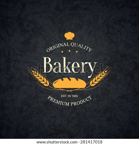 Vintage logotype for bakery and bread shop - stock vector