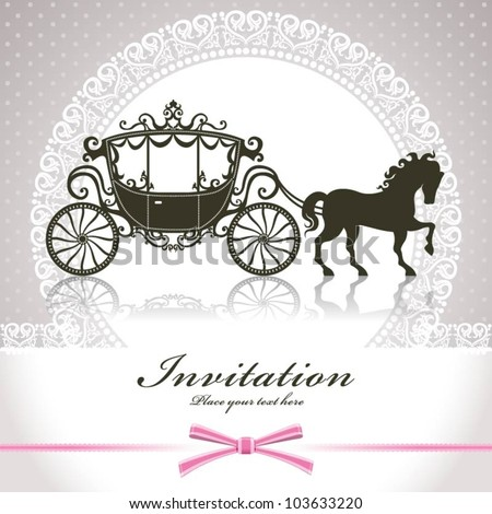 Vintage Luxury carriage - stock vector