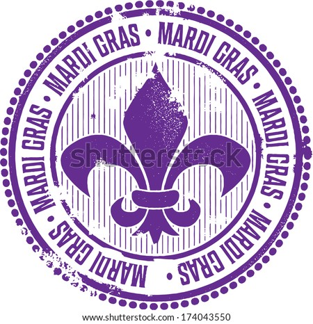 Vintage Mardi Gras Celebration Stamp - stock vector