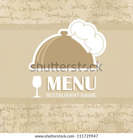 Vintage menu on the seamless text background
