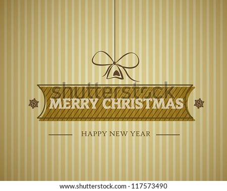 vintage merry christmas card. christmas concept. - stock vector