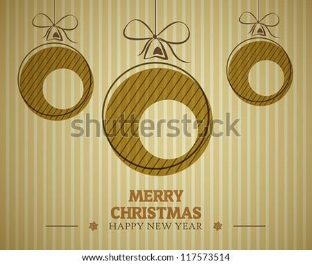 vintage merry christmas card. christmas concept. - stock vector