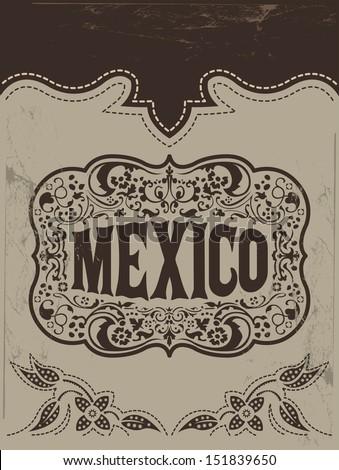 Vintage Mexico - mexican vector poster - stock vector