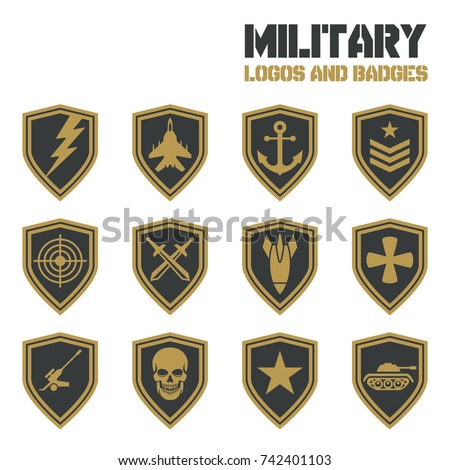 Escutcheon stock images royalty free images vectors for Military patch template