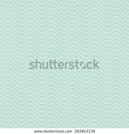 Vintage mint seamless wavy line pattern vector illustration
