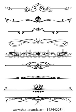 Vintage monograms and borders set foe design and decorate. Jpeg version also available in gallery  - stock vector