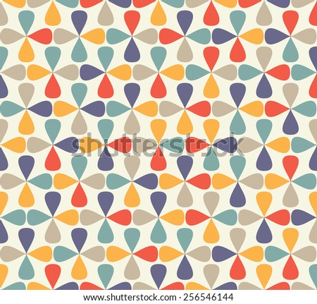 vintage mosaic pattern - stock vector