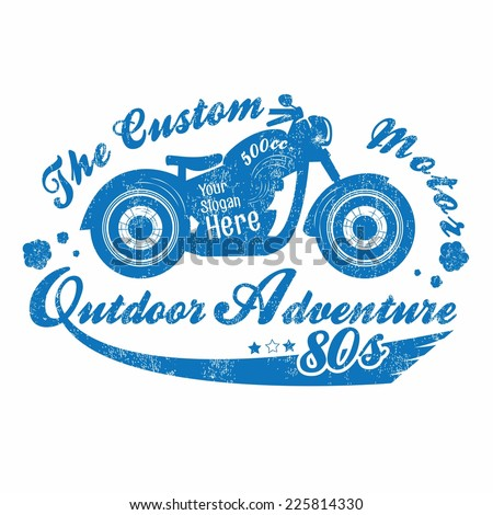 Vintage Motor Bike Gangster - stock vector