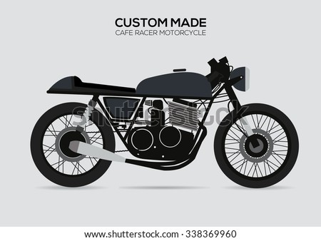 Vintage Motorcycle Cafe Racer - stock vector