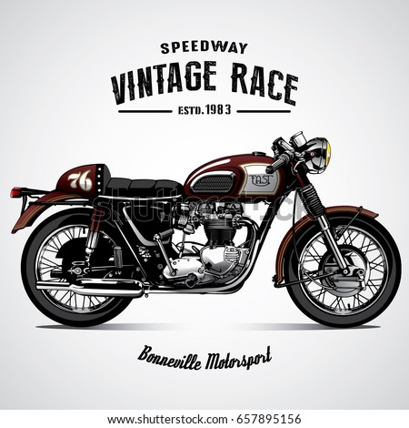 Vintage Motorcycle Poster Stock Vector 657895156
