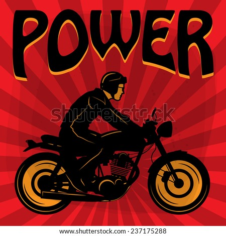 Vintage Motorcycle poster, vector illustration - stock vector