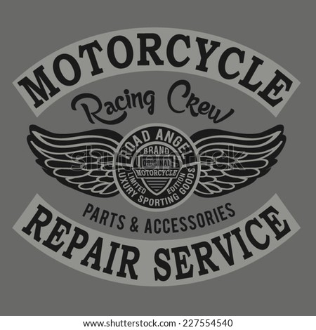 vintage motorcycle typography, t-shirt graphics, vectors