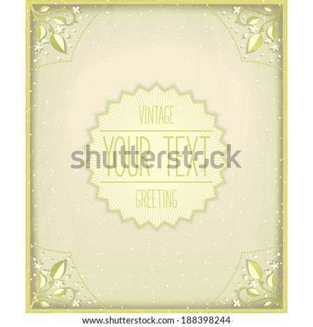 Vintage nature card. Atmospheric effect design. Vector eps 10  - stock vector