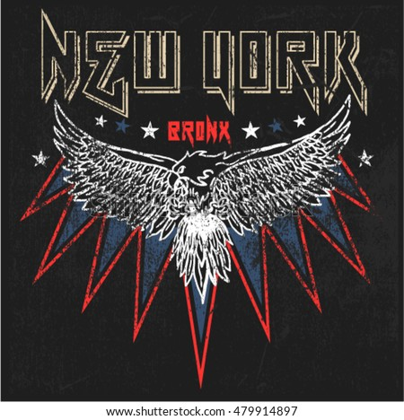 Vintage New York Eagle Graphic t-shirt