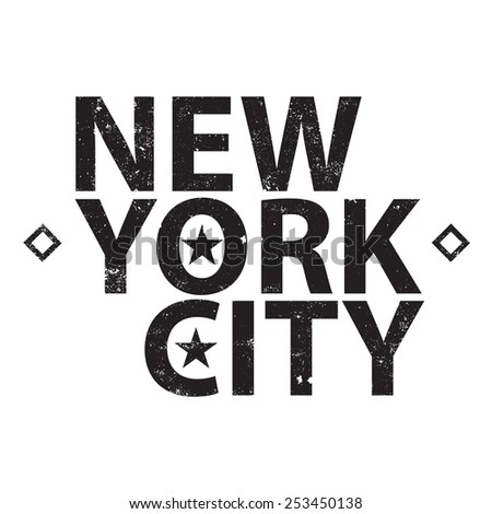 Vintage new york typography, t-shirt graphic - stock vector
