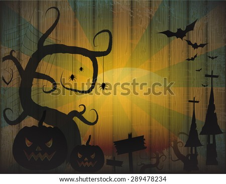 Vintage of Halloween border for design - stock vector