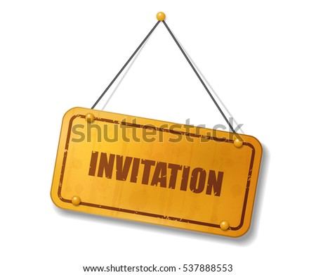 Vintage old gold sign invitation text stock vector 537888553 vintage old gold sign with invitation text vector illustration stopboris Choice Image