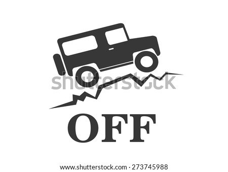 vintage old off road sign - vector animation
