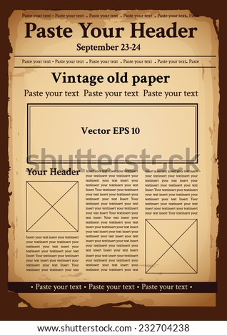Vintage old paper - stock vector