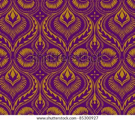 vintage ornament pattern - stock vector