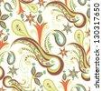 Vintage ornament seamless texture - stock vector