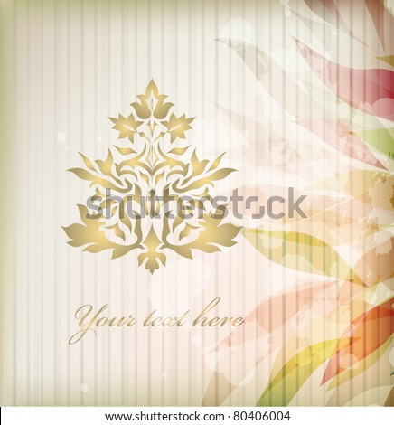 Vintage Ornament vector isolated on background with your text (eps 10) - stock vector