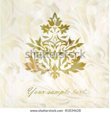 Vintage Ornament vector isolated on background with your text (vector version eps 10) - stock vector