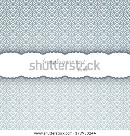 Vintage ornamental background, seamless cover page. Template for design - stock vector