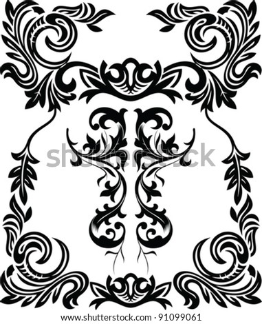 vintage ornamental frame - stock vector