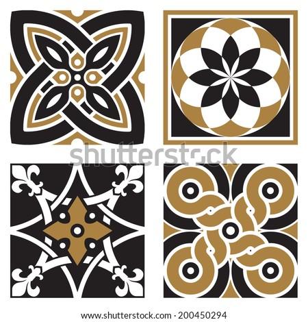 Vintage Ornamental Patterns - stock vector