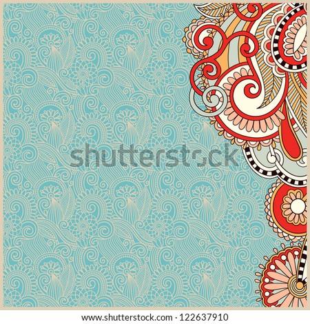 vintage ornamental template - stock vector