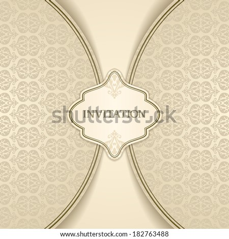 Vintage ornamental template with frame for your text  - stock vector
