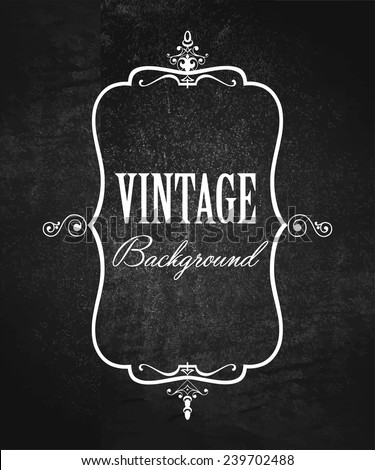 Vintage ornate frame on grunge background  - stock vector