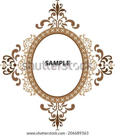 Vintage Ornate Frames Vector Stock Vector 206689363 - Shutterstock