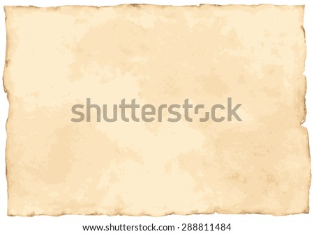 Vintage paper background isolated on white. vector