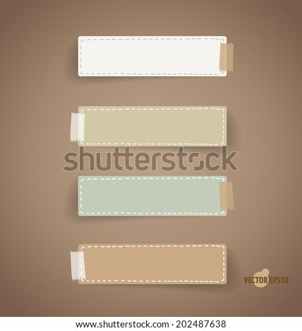 Vintage paper designs (note paper). Vector illustration. - stock vector