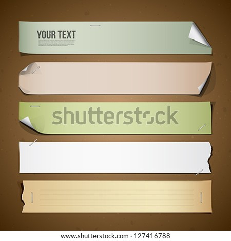 Vintage paper Long collections design, vector illustration - stock vector