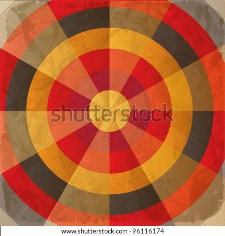 Vintage paper target - stock vector