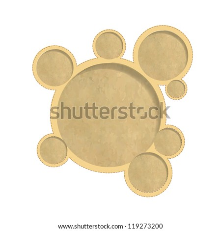 Vintage Paper Web Design Bubbles With Gradient Mesh, Vector Illustration - stock vector