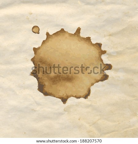 Vintage Paper With Coffee, Vector Illustration - stock vector