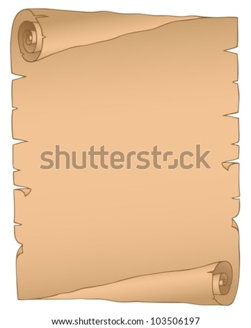 Vintage parchment image 2 - vector illustration.