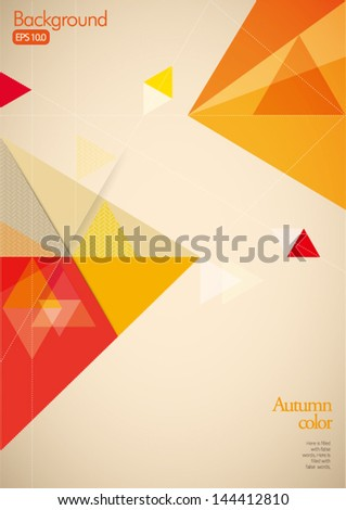Vintage Pattern for Layout - Pattern with Autumn Color - stock vector