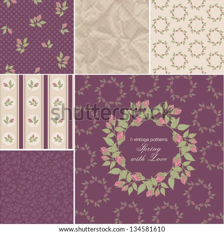 Vintage patterns - stock vector