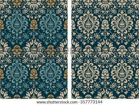 Vintage patterns - stock vector